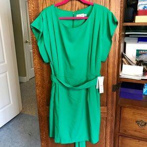 🆕 Eliza J Drape Sleeve Sash Belt Dress - 16 NWT!